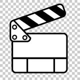 Doodle Simple of Film Clapper Stock Image