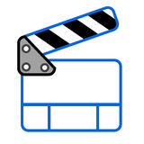 Doodle Simple of Film Clapper Stock Images