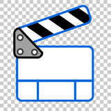 Doodle Simple of Film Clapper Royalty Free Stock Photography
