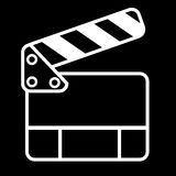 Doodle Simple of Film Clapper Royalty Free Stock Image