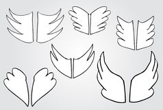 Doodle simple wing, Royalty Free Stock Image