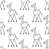 Doodle sketch african camel seamless pattern Royalty Free Stock Photos