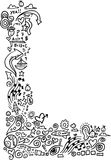 Doodle Sketch Border. Vector Illustration Stock Photography