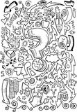 Doodle Sketch Drawing Vector Royalty Free Stock Images