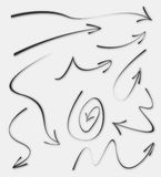 Doodle Sketch Arrows Stock Photography