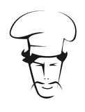 Doodle sketch of a handsome chef Royalty Free Stock Photography
