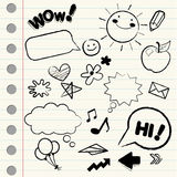 Doodle/ sketch icons Royalty Free Stock Photography