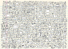 Doodle Sketch Notebook Vector Set Stock Photography