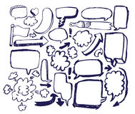 Doodle Sketch Speech Bubble Arrow Royalty Free Stock Photography