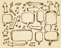 Doodle Sketch Speech Bubble Arrows Royalty Free Stock Image