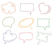 Doodle sketch speech bubbles Royalty Free Stock Photography