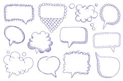 Doodle sketch speech bubbles Royalty Free Stock Image