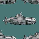 Doodle Sketch Submarine Royalty Free Stock Image