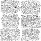 Doodle Sketch Vector Set Stock Photos