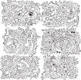 Doodle Sketch Vector Set royalty free illustration