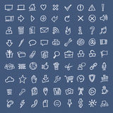 Doodle sketch web icons Stock Images
