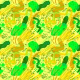 Doodle sketchy abstract seamless pattern. Background with transp Stock Photos