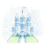 Doodle Sketchy Castle Royalty Free Stock Photo