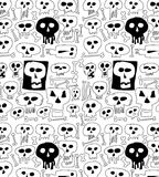 Doodle skull pattern Stock Photography