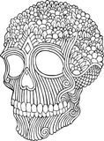 Doodle Skull royalty free stock image