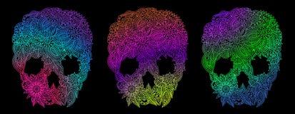 Doodle skulls Royalty Free Stock Photos