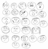 Doodle smile face icons Stock Image