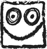 Doodle smiley icon Royalty Free Stock Photography