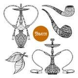 Doodle Smoke Set Stock Image