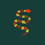 Doodle snake Stock Photography