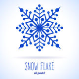 Doodle snow flake Stock Image
