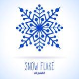 Doodle snow flake Stock Image