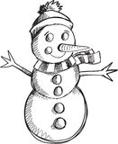 Doodle Snowman Vector Stock Photography