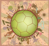 Doodle Soccer ball with Soccer players Stock Photo