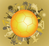 Doodle Soccer ball with Soccer players Stock Photography