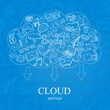 Doodle Social Cloud Royalty Free Stock Photo
