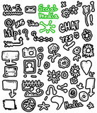 Doodle social media Stock Photography