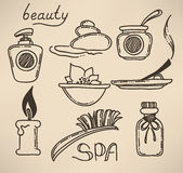 Doodle spa Stock Photography