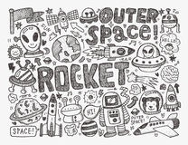 Doodle space element Stock Photo