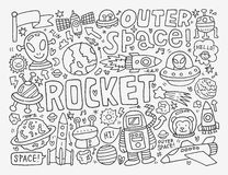 Doodle space element Stock Images