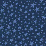 Doodle space stars pattern Royalty Free Stock Photos