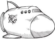Doodle Spaceship Vector Royalty Free Stock Photos