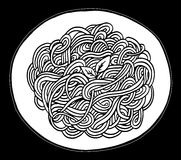 Doodle spaghetti ręki rysunek Obraz Stock