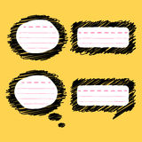 Doodle speech bubble Royalty Free Stock Image