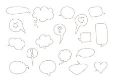 Doodle speech bubble Royalty Free Stock Images