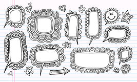Doodle Speech Bubble Design Elements Stock Image