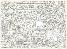 Doodle Speech Bubble Design Elements set Stock Photography