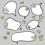 Doodle speech bubbles Stock Photo