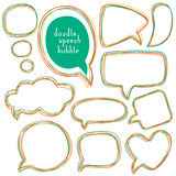 Doodle speech bubbles. Different sizes and forms. Royalty Free Stock Images
