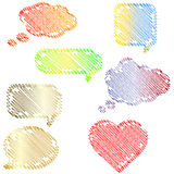 Doodle speech bubbles set Stock Photography
