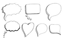 Doodle Speech Bubbles Royalty Free Stock Image
